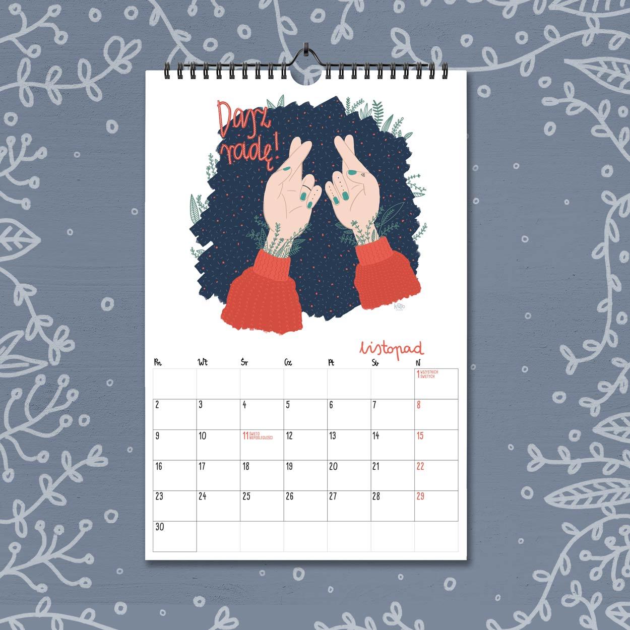 kalendarz 2020 listopad