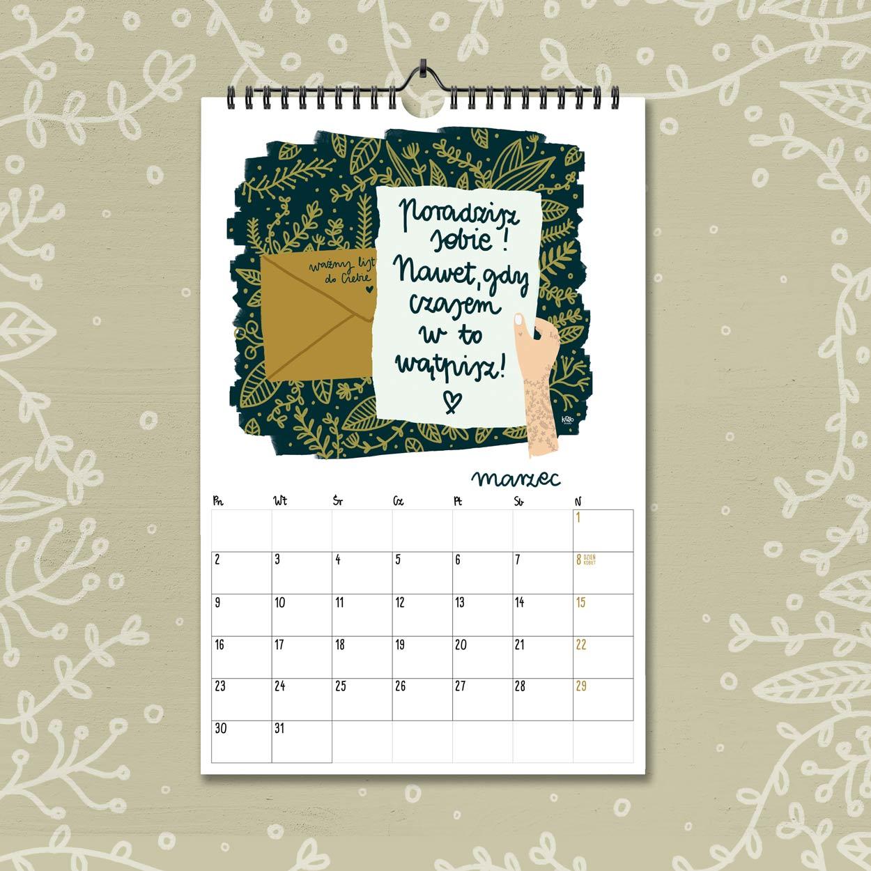 kalendarz 2020 marzec