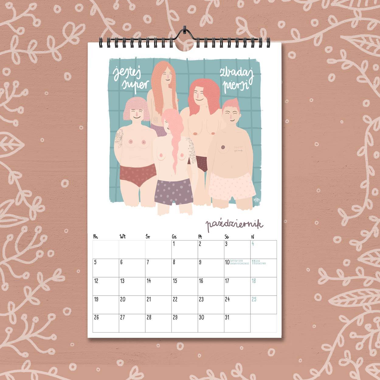 kalendarz 2020 pazdziernik