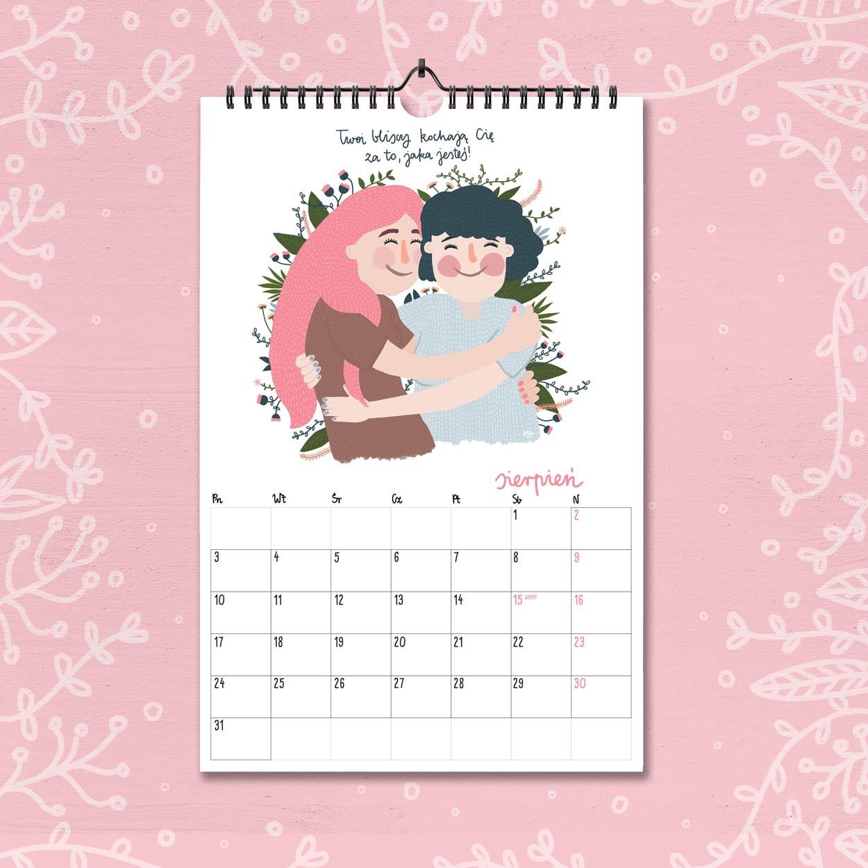 kalendarz 2020 sierpien