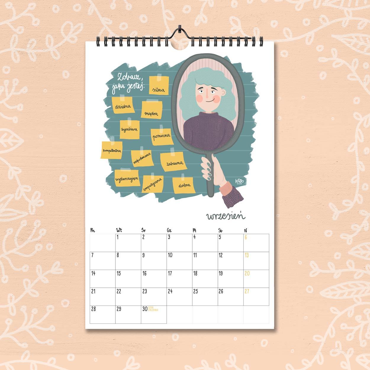 kalendarz 2020 wrzesien
